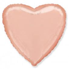 Сердце Розовое золото  FM