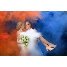 Цветной дым на свадьбу